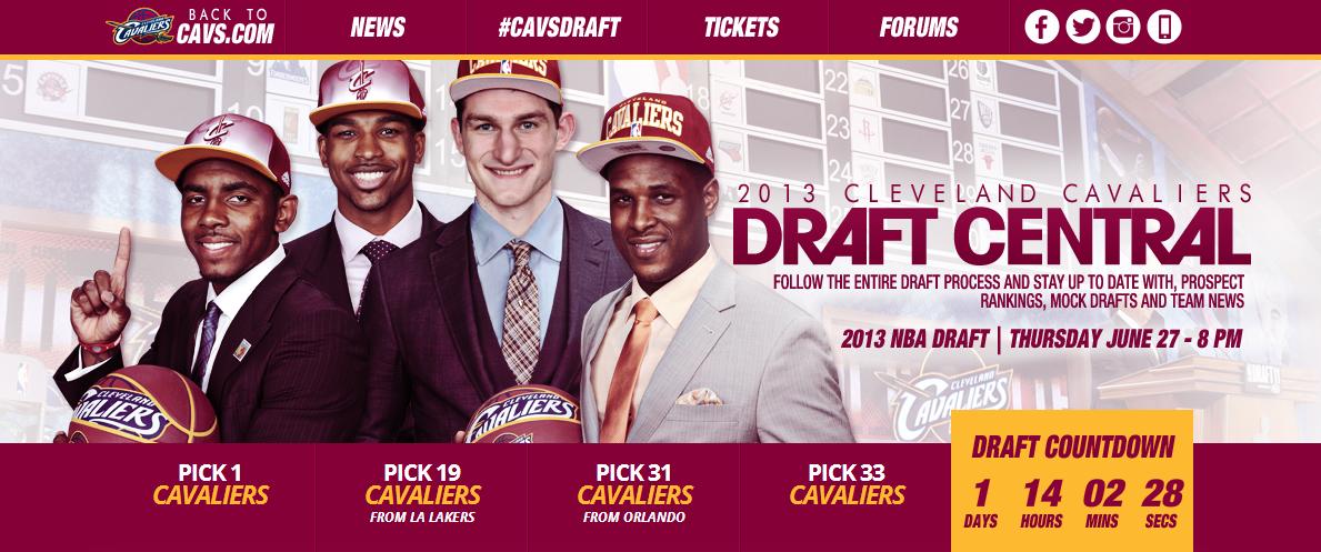 Cleveland Cavaliers Draft Homepage - Header