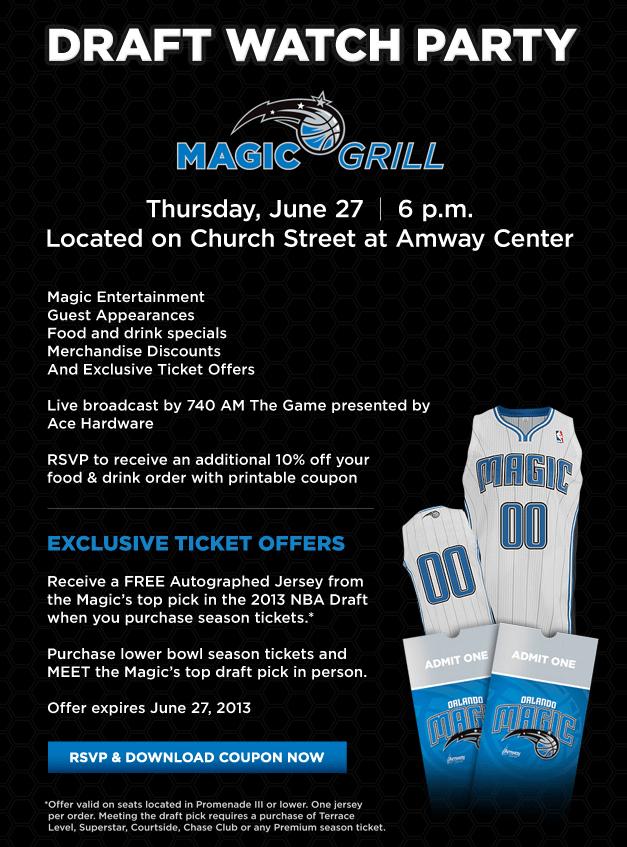 Orlando Magic - Draft Party Info