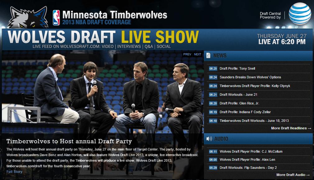 Minnesota Timberwolves Draft Day Coverage